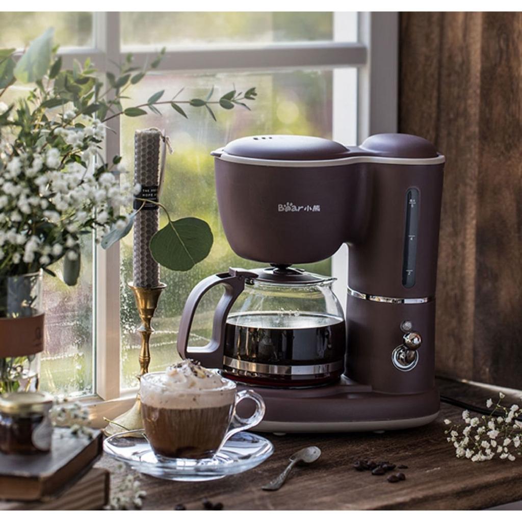 NEW เครื่องทำกาแฟวินนี่เครื่องชงกาแฟอเมริกันบ้านเครื่องชงกาแฟแบบหยดอัตโนมัติมินิขนาดเล็กกาน้ำชาต้มคู่-bigsale
