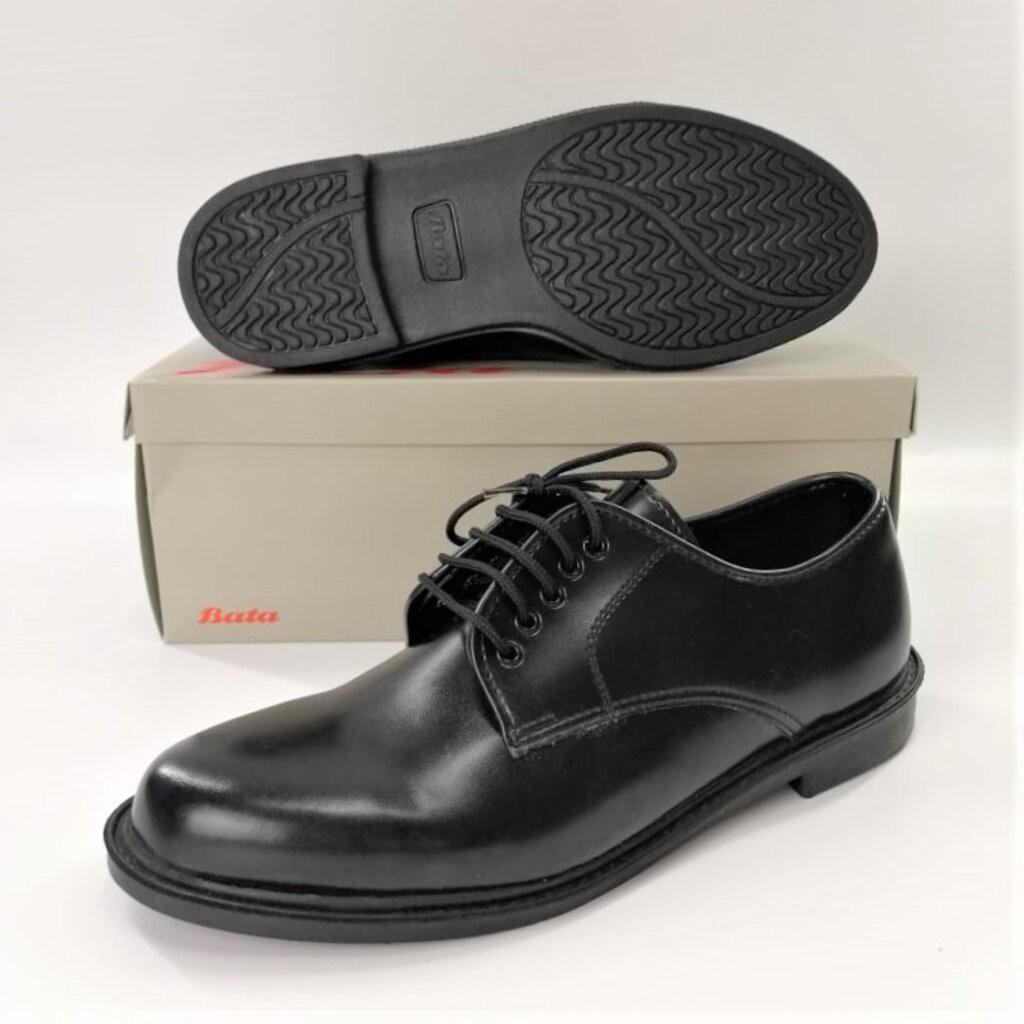 รองเท้าผู้ชาย⌵ Bata รองเท้าคัชชูหนัง สีดำ แบบผูกเชือก ยี่ห้อบาจาของแท้ เบอร์ 2-12 (35-47) รุ่น 821-6781 821-6782 รองเท้า