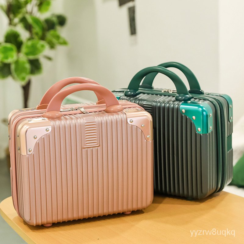 กระเป๋าเดินทางกระเป๋าเครื่องสำอางพกพาหญิง14-ไฟขนาดเล็กนิ้ว16ขนาดรหัสผ่านกระเป๋าเดินทางเอกสารกล่องเก็บมินิ MIUj