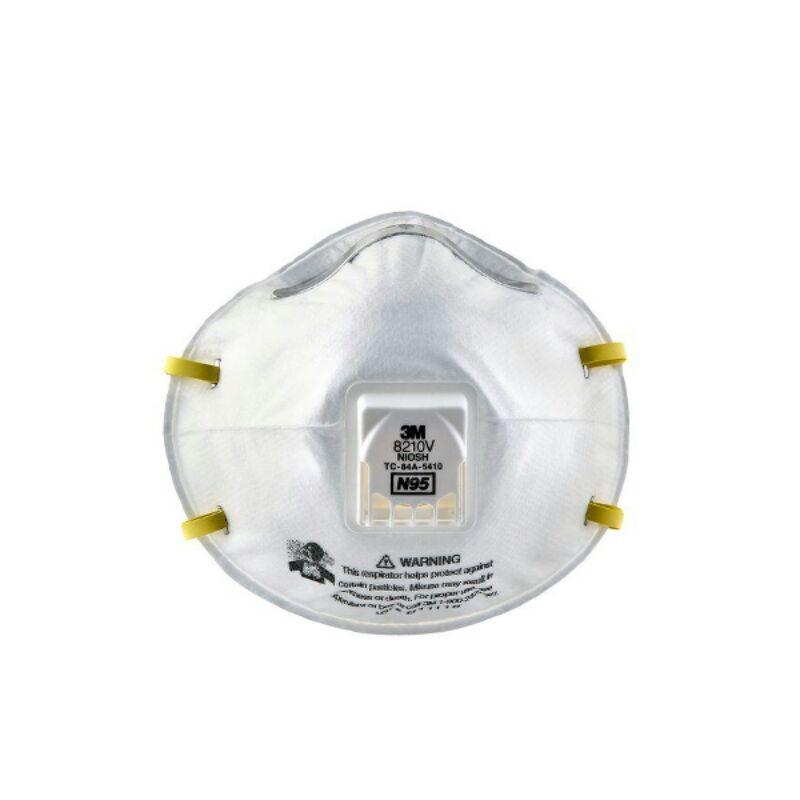 3M8210 V หน้ากากกรองฝุ่น N95 ของแท้ บรรจุ  10 ชิ้น/กล่อง พร้อมส่ง