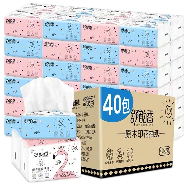 กระดาษทิชชู่ เอนกประสงค์ หน้า กระดาษทิชชูพกพา กระดาษทิชชูไร้สารอันตราย ไม่มีสารเรืองแสง Small F.