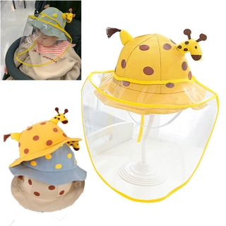 Lovely Children Hat Removable Protective Cap Epidemic Prevention Section Anti-Splash Guard Cap