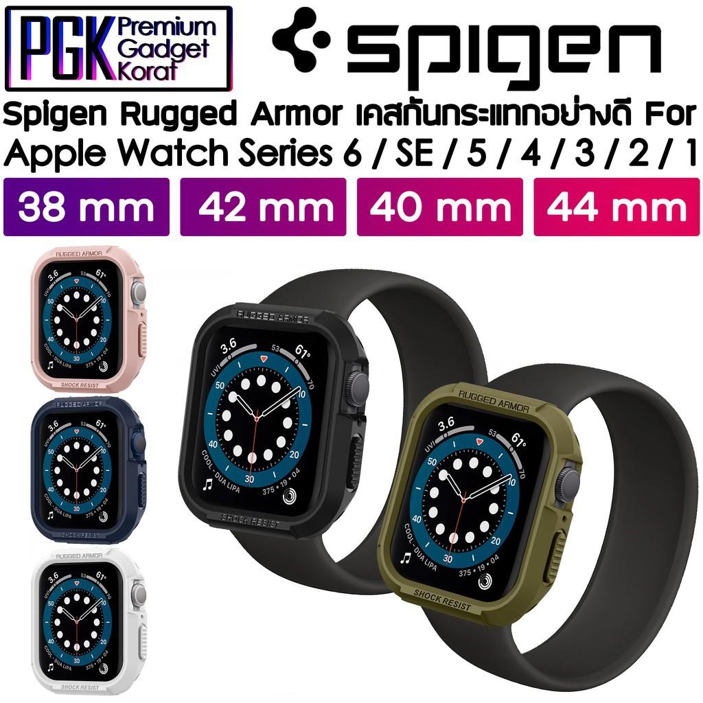 applewatch series 6 สาย applewatch Spigen Rugged Armor Case สำหรับ Apple Watch Series 6/SE/5/4/3/2/1 44mm / 40mm / 42mm