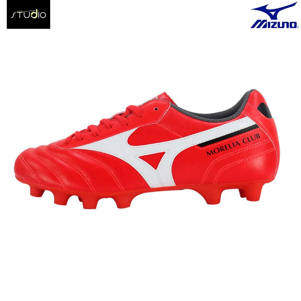 รองเท้าฟุตบอล MIZUNO MORELIA II CLUB RED (Made in Indonesia)