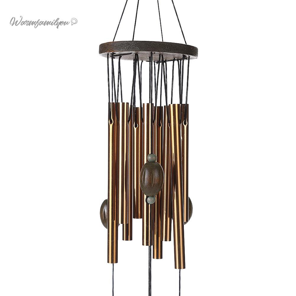 Wind Chimes Home Tubes and Bells Copper Yard Garden Decor Outdoor Living Gift