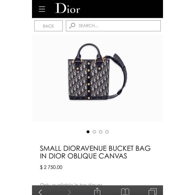 aca7706b43fc Dioravenue Bucket in Dior Oblique Canvas Flap Bag Hiend 1 1 กระเป๋าถือ  กระเป๋าสะพาย ดิออร์