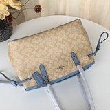 กระเป๋าสตางค์ใบสั้น✿❣New Coach F57842 กระเป๋าสะพายแฟชั่น กระเป๋าช่องมองภาพขนาดเล็ก กระเป๋าสะพายโซ่หนังเต็มความจุขนาดใหญ่