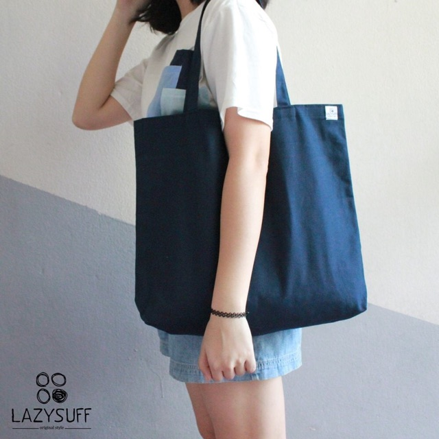 Canvas Bag ( Navy : L ) by Lazysuff
