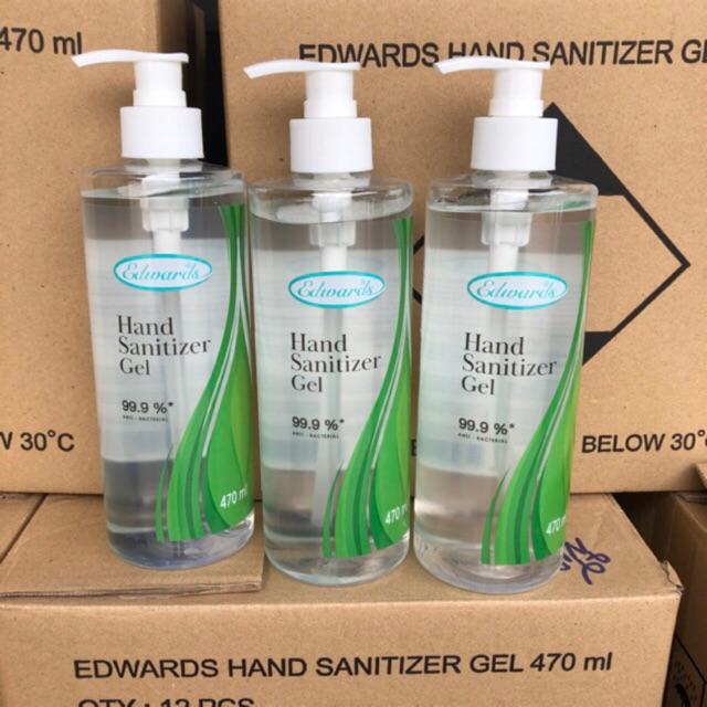 พร้อมส่ง‼️เจลล้างมือ edwards 470 ml. 50ml.  Edwards Sanitizer Hand Gel 470 ml