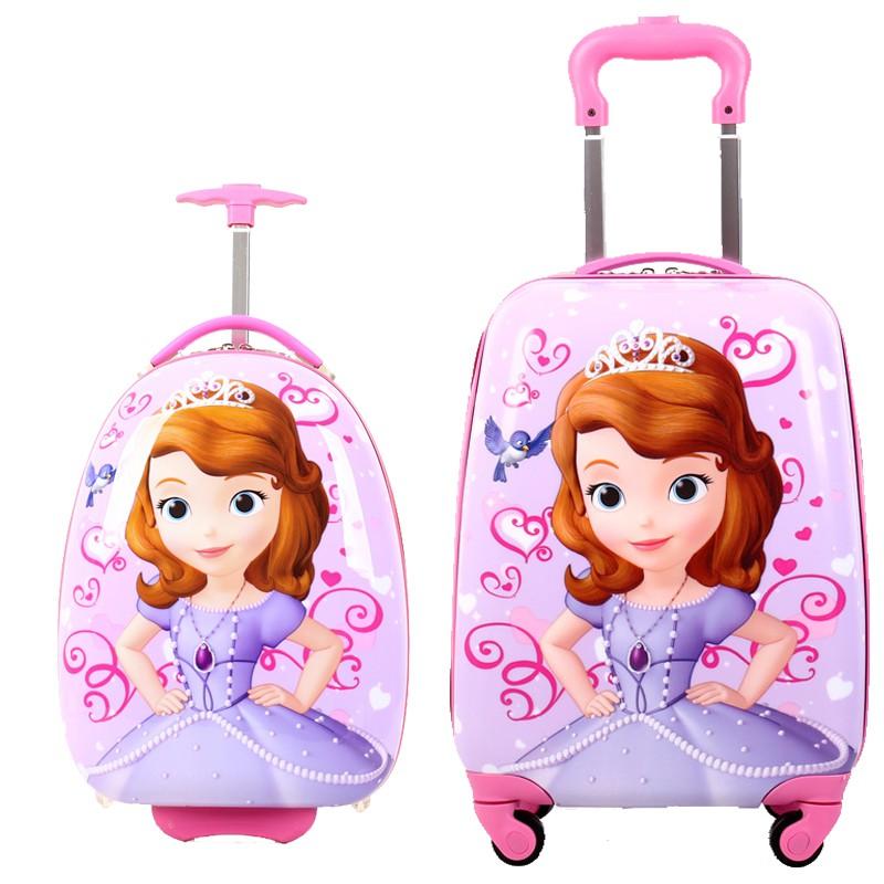≉⅝กระเป๋าใส่รถเข็นเด็ก  กระเป๋าเดินทางกลางแจ้งเจ้าหญิงกล่องนักเรียนสาวกระเป๋าเดินทาง16นิ้วกระเป๋าเดินทางเด็กเด็กเด็กเด็ก
