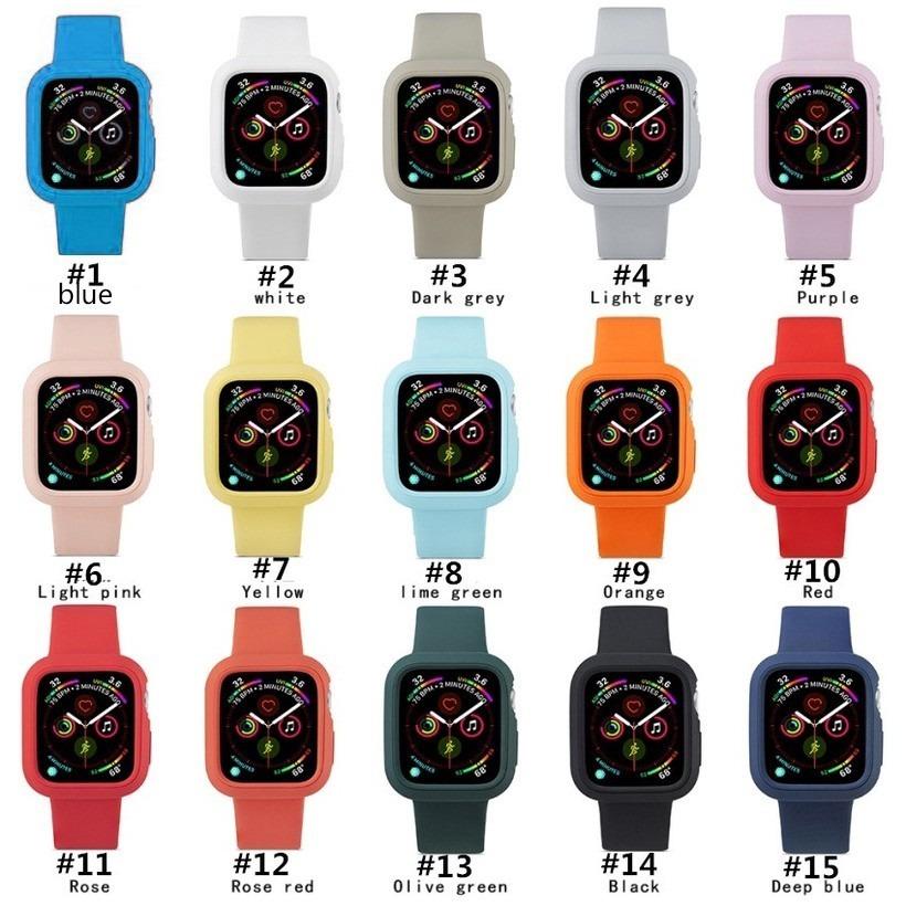 สายนาฬิกาข้อมือสีสันสดใสสําหรับ Apple Watch Band iWatch Series 5 4 3 2 1 38 42 44 40 มม. 2 In 1