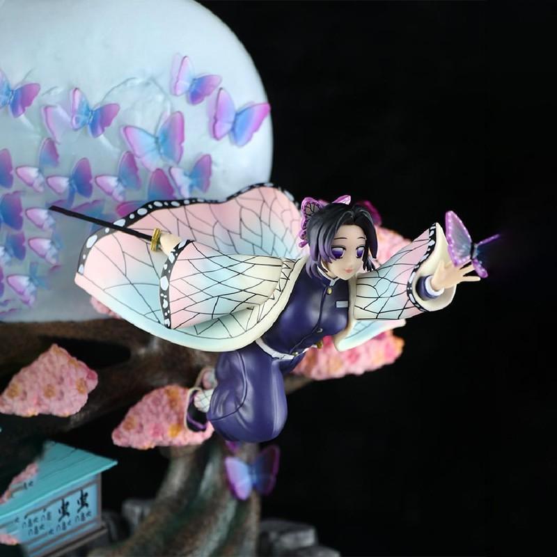 นักล่าปีศาจDevil's Blade Anime Figure Shinobu Demon Slayer Gk Flying osture Moon Anime Statue Kimetsu No Yaiba Action Fi