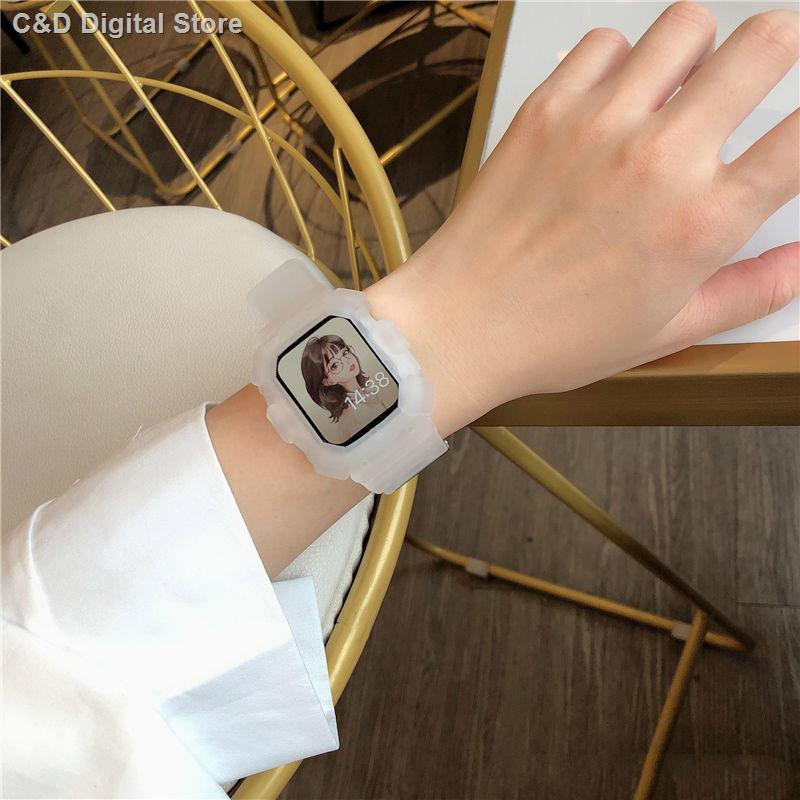 【อุปกรณ์เสริมของ applewatch】✐▩ปรับให้เข้ากับสาย Applewatch กีฬาหนึ่งสาย Apple สายรัด iwatch SE6 / 5/4/3/2 กันตก
