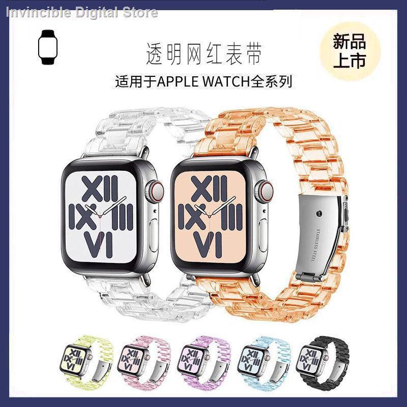 【อุปกรณ์เสริมของ applewatch】☜ใช้ได้กับ Apple Watch ที่มีสายนาฬิกา iwatch applewatch6 / 5 SE เรซิ่นใสสาย
