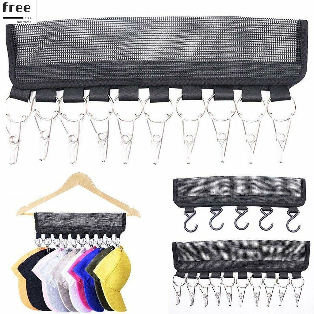 2PCS Cap Rack Hats Visors Door Hook Hanger Hanging Holder Storage Organizer HOT