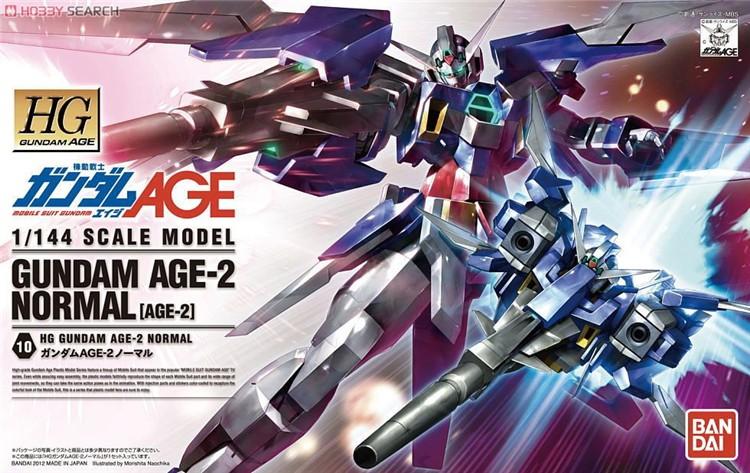 กันดั้ม โมเดล ของเล่น ของขวัญ ของสะสม งานอดิเรก หุ่นยนต์ Gundam Toys Gift Gundam AGE-2 Normal Bandai Model Kits HG 1/144 High Grade HGAGE Gunpla Present Hobby Collectibles DIY Robot 万代机动战士高达模型玩具礼物Ready Stock