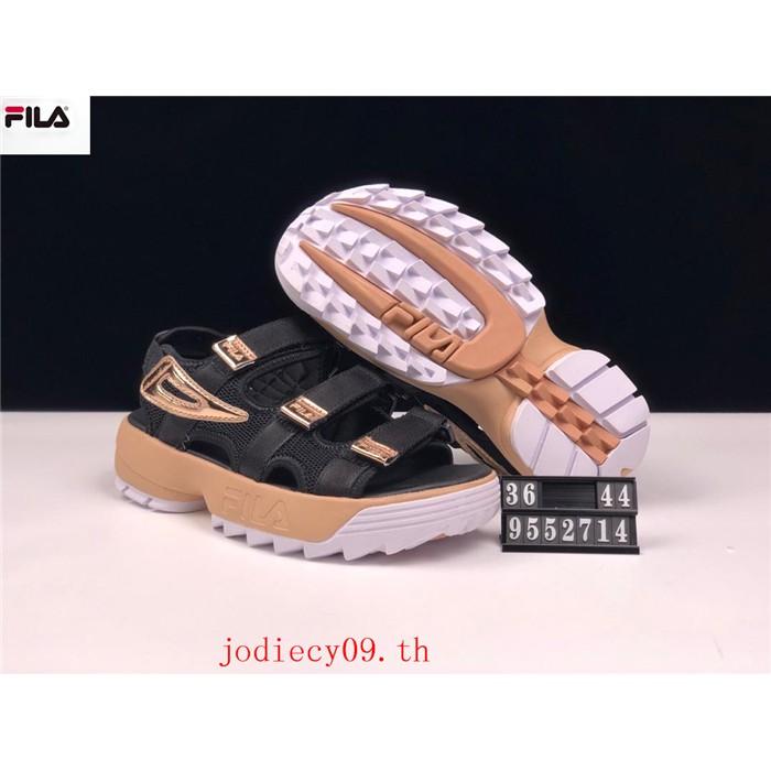 100%ของแท้ 🍒FILA🍒Disruptor SD รองเท้าผู้ชายและผู้หญิง รองเท้าแตะ รองเท้าชายหาด รองเท้าผ้าใบ รองเท้าวิ่
