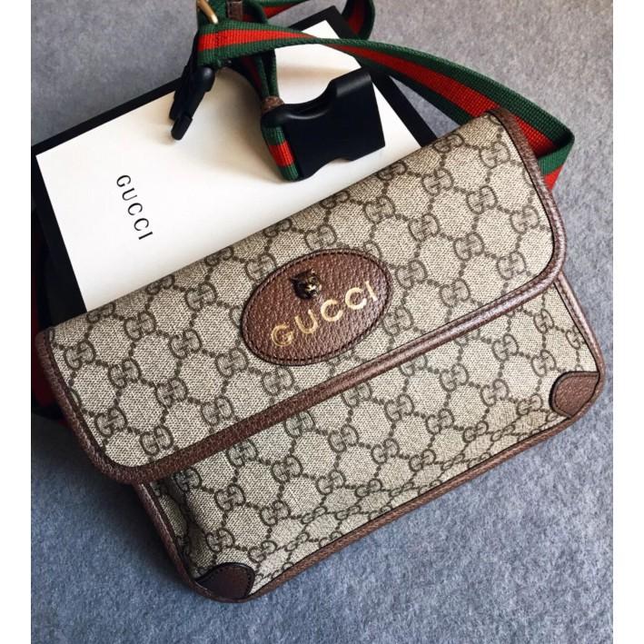 เคาน์เตอร์แบรนด์แท้ Gucci GG Supreme Belt Bag กระเป๋าคาดหัวเสือ