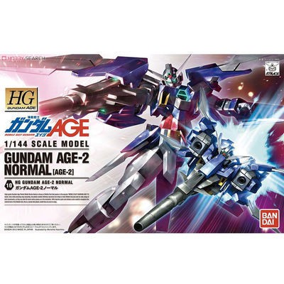 Bandai model 58271 HG AGE 10 1/144 Age-2 Gundam / Gundam basic type with bracket