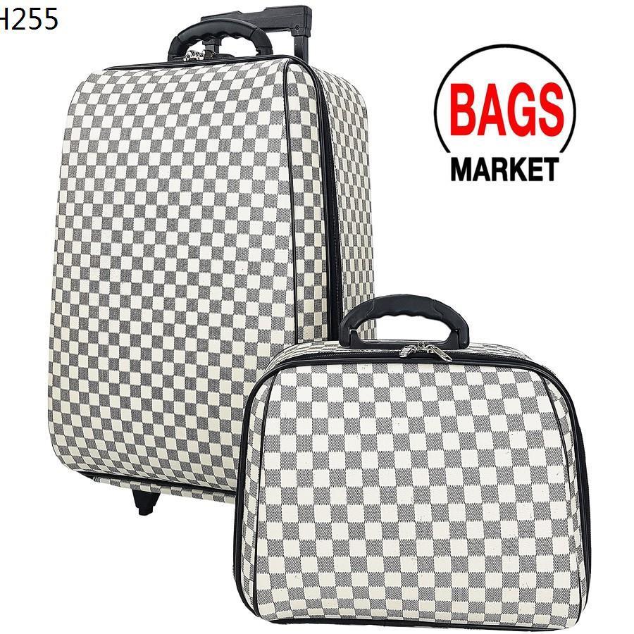 WHEAL กระเป๋าเดินทางล้อลาก ระบบรหัสล๊อค เซ็ทคู่ 22/14 นิ้ว Louise White/Cream Classic Code F775422-3
