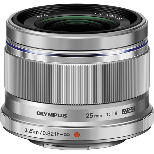 Olympus M.Zuiko Digital 25mm f/1.8 Lens - [Silver]