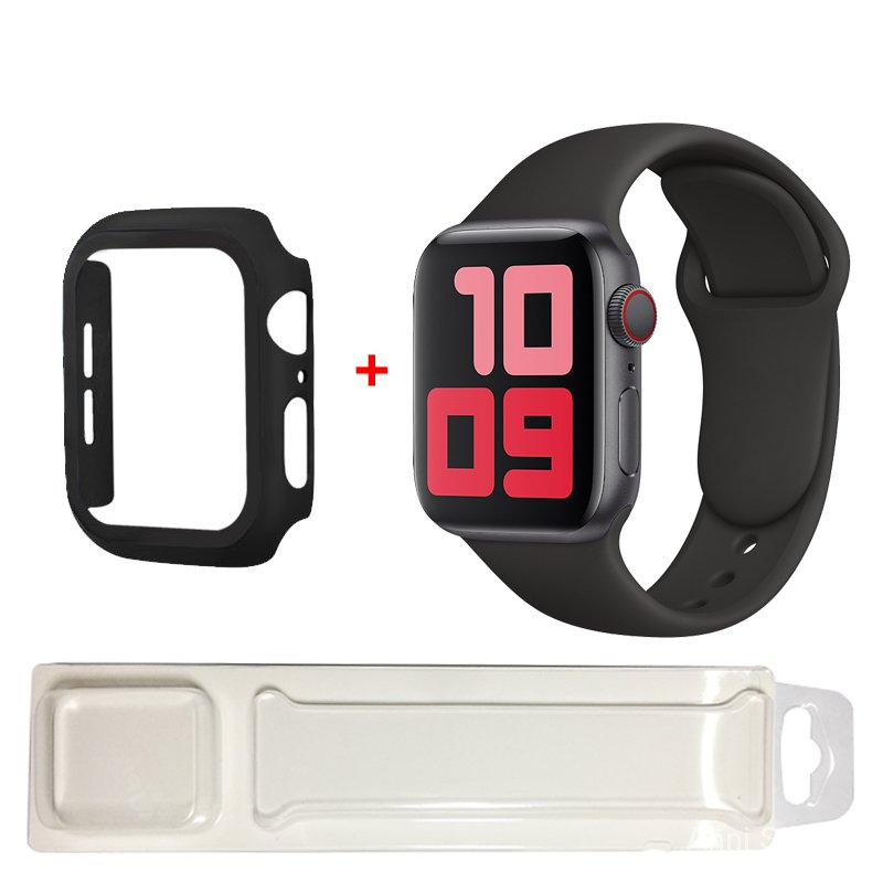 Silicone Strap For Apple Watch band 40mm 44mm 38mm 42mm rubber strap+Case wristband Sport bracelet iWatch serie 3 se 4 5