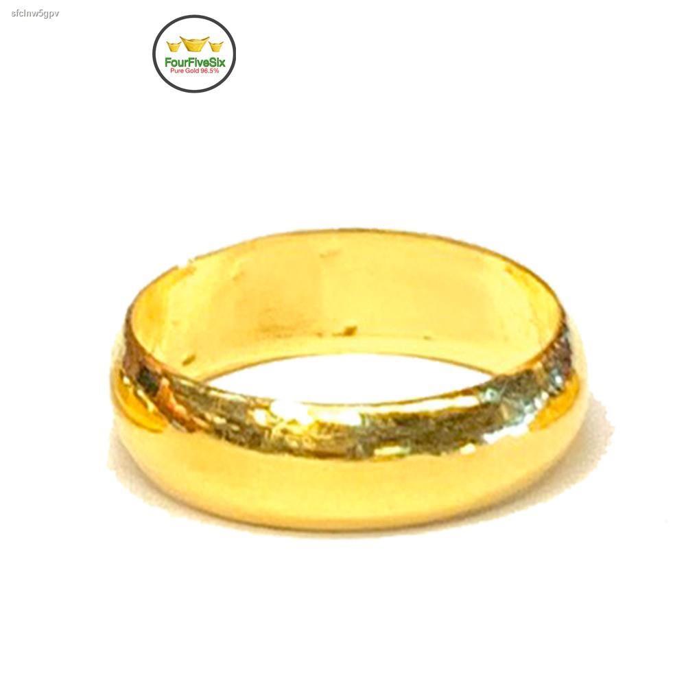 ราคาต่ำสุด✗Flash Sale แหวนทองครึ่งสลึง ปอกมีด หนัก 1.9 กรัม ทองคำแท้96.5%