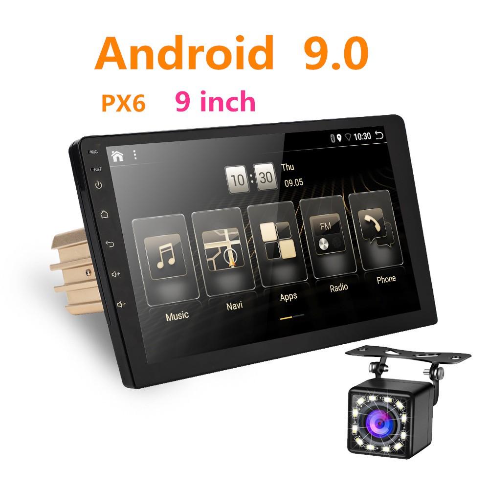 Android 9.0 4 กรัม + 32 กรัม Octa Core PX6 รถวิทยุสเตอริโอ GPS Navi เสียงเครื่องเล่นวิดีโอ Wifi BT HDMI Carplay ทีวี OBD