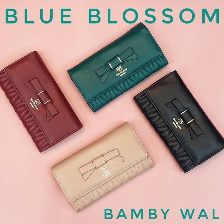 ใช้แล้วรวย กระเป๋าตังค์ Blue Blossom ใบยาว