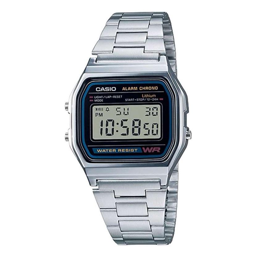 นาฬิกา Casio standard นาฬิกาข้อมือผู้ชาย สายสแตนเลส รุ่น A158WA-1