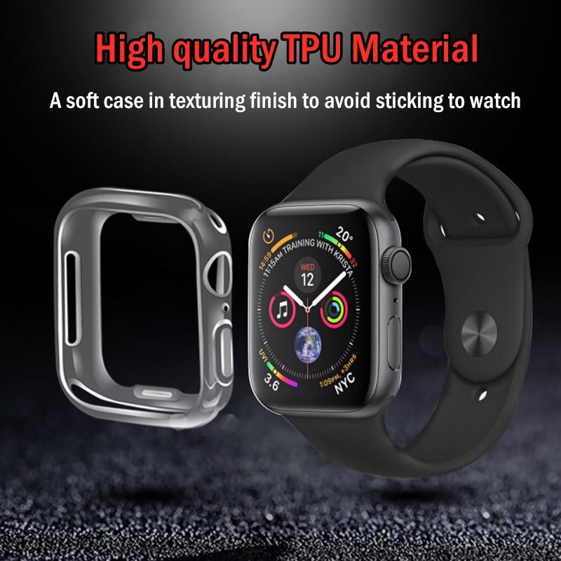 ถูกสุดๆ‼️ เคส Apple Watch 4 ขนาด 38,40,42,44mm case ใสแบบนิ่ม TPU Protector เคสใส Case