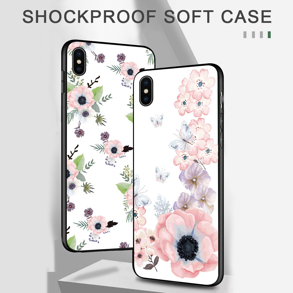 สำหรับ Samsung Galaxy A7 A6 A8 A9 2018 Plus Pro 2019 A9S Star A8S A750 A530 A730 Cases TPU Softcase Beautiful Watercolor Flowers Casing Blossom Silicone Cover Phone Case เคสโทรศัพท์ เคสมือถือ เคสนิ่ม เคสซิลิโคน