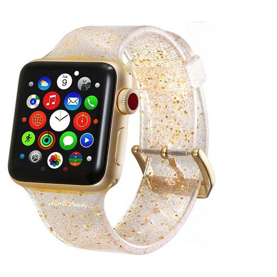 สาย applewatch สายนาฬิกา applewatch สายนาฬิกา Apple Watch สาย Iwatch สายนาฬิกาข้อมือซิลิโคน Glitter Silicone สาย apple w