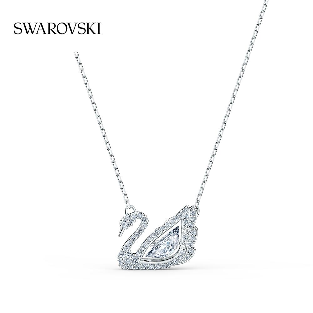 ぞΤระดับสูงสุดกำนัลSwarovski Dancing SWAN หงส์ครบรอบ125ปีสร้อยคอหญิงของขวัญสำหรับสาวๆ