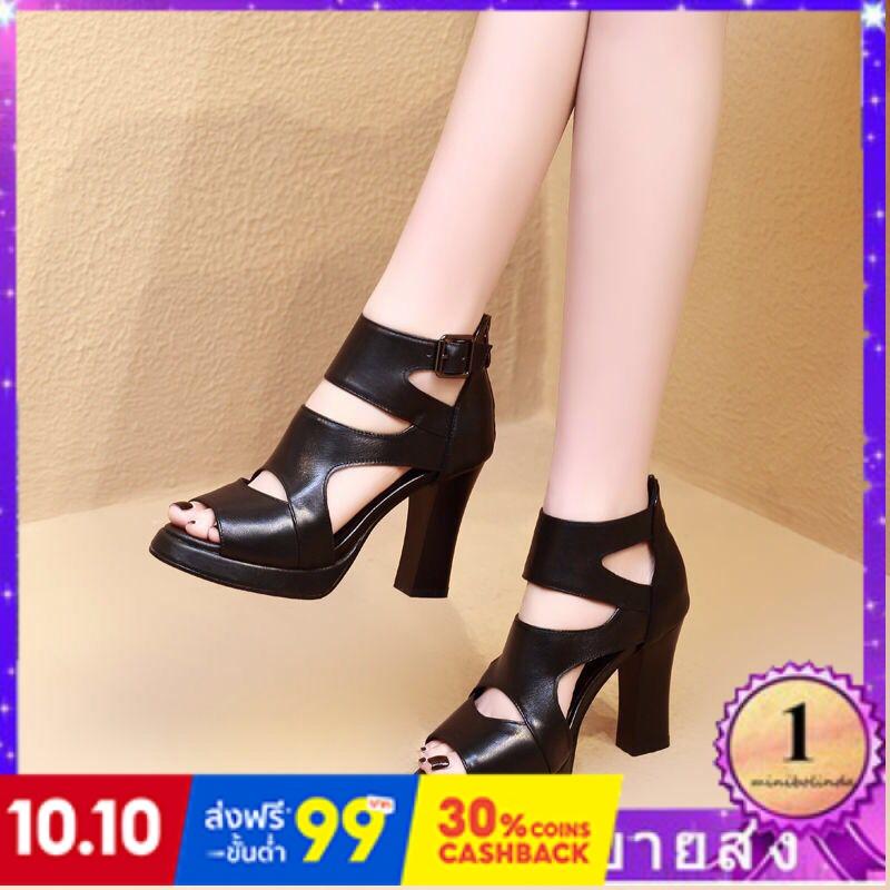 ⭐👠รองเท้าส้นสูง หัวแหลม ส้นเข็ม ใส่สบาย New Fshion รองเท้าคัชชูหัวแหลม  รองเท้าแฟชั่นใหม่โรมันรองเท้าผู้หญิงรองเท้าส้นสู