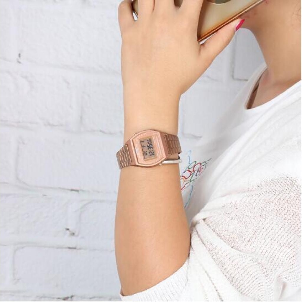applewatch series 6☌นาฬิกา Casio B640WC-5A สีโรสโกลด์ สุดฮิต (สินค้าขายดีมาก) - มั่นใจ สินค้าของแท้ 100% ประกันศูนย์ 1 ป