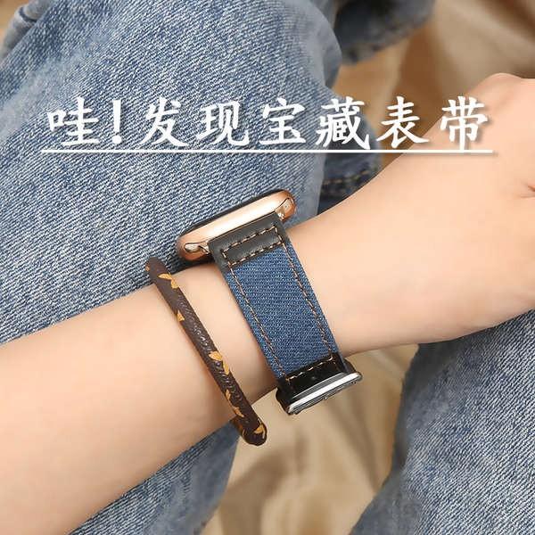 สาย applewatch เหมาะสำหรับนาฬิกา 6 สายนาฬิกา Apple สายหนัง 44 / 42mm / 40/38 applewatch6 สาย iwatch5 / 4/3/2/1 รุ่นโลหะผ