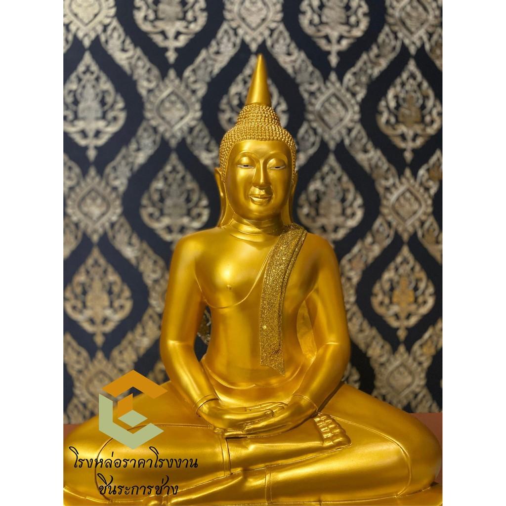 พระพุทธโสธร พระพุทธรูป รูปปั้นขนาดหน้าตัก 30 นิ้ว โปรส่งฟรี เนื้อเรซิ่น ราคาถูกจากโรงงาน พุทธคุณค้าขาย สุขภาพ เงินทอง