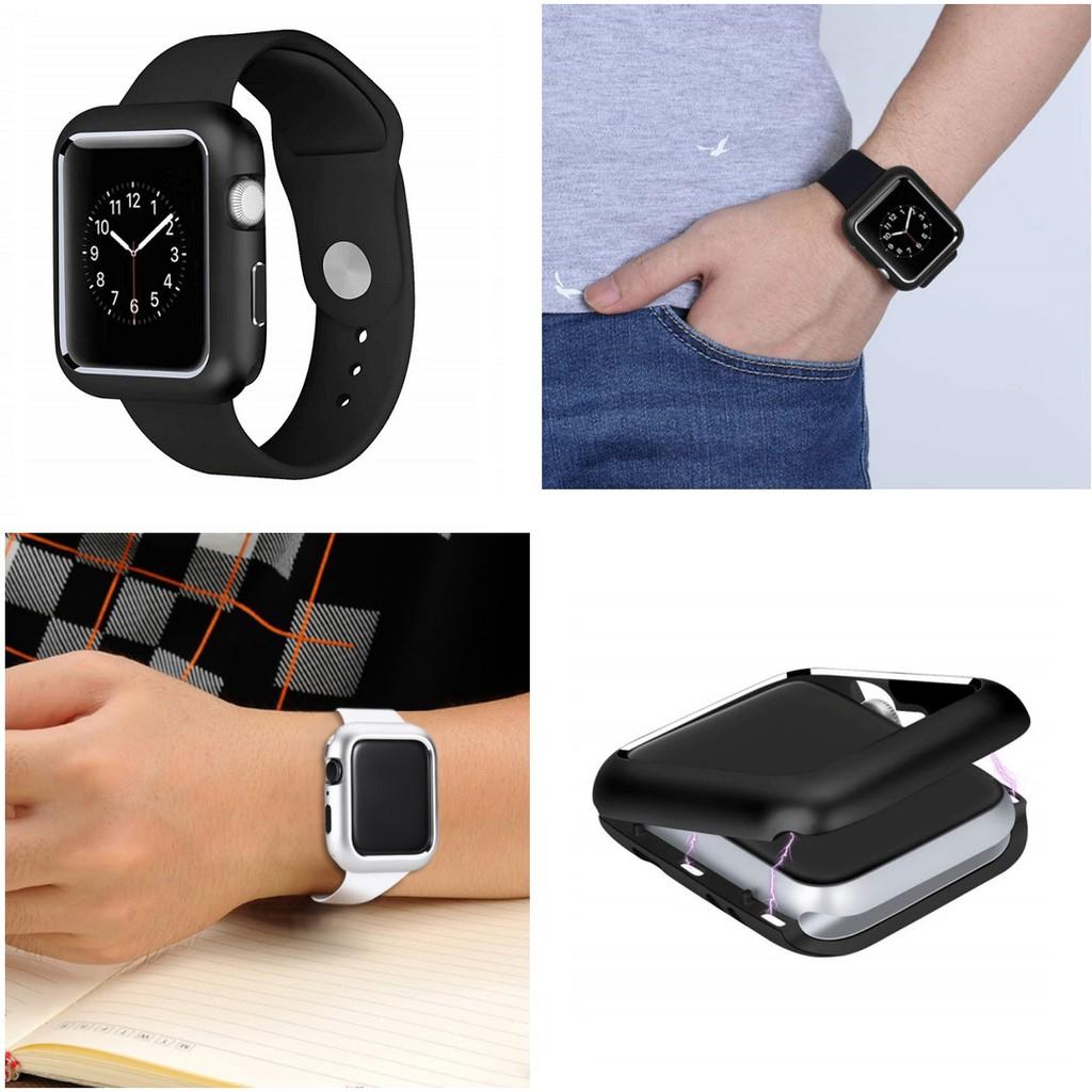 เคส Apple watch Series 6 5 4 3 2 , Apple Watch SE Case Magnetic cover for iWatch 44mm 42mm 38mm 40mm case Frame protecti