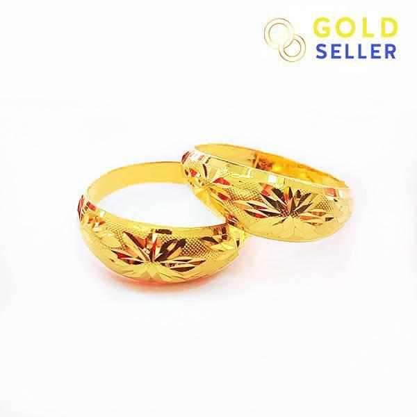 ✨ ✨ 🌻❉☾Goldseller แหวนทอง ลายโปร่งจิกทราย ครึ่งสลึง คละลาย ทองคำแท้ 96.5%