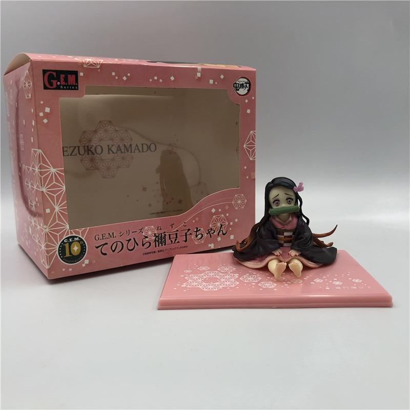 anime figure Demon Slayer Kimetsu no Yaiba Kamado Nezuko Sitting position Action Figure PVC Collectible model toys gifts