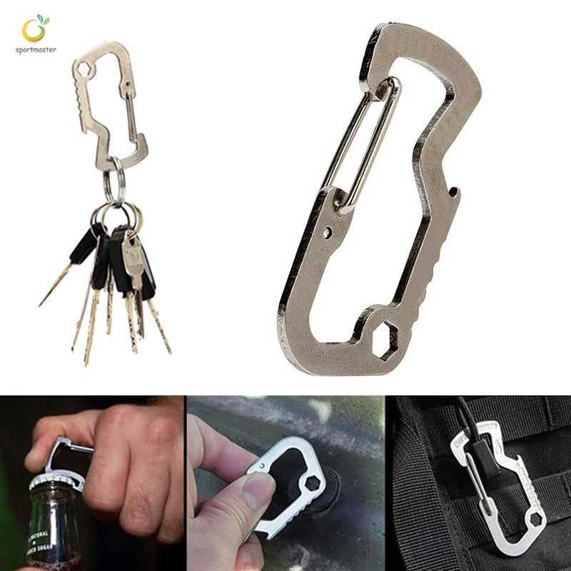 Aluminum Self-locking Carabiner Camping Tent Rope Tightener Hook Hanger Tool