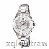 พร้อมส่ง○◆Casio นาฬิกาข้อมือผู้หญิง สายสแตนเลส รุ่น SHE-4505D-7A - Silver/White  รับประกันศูนย์ 1 ปี ของแท้