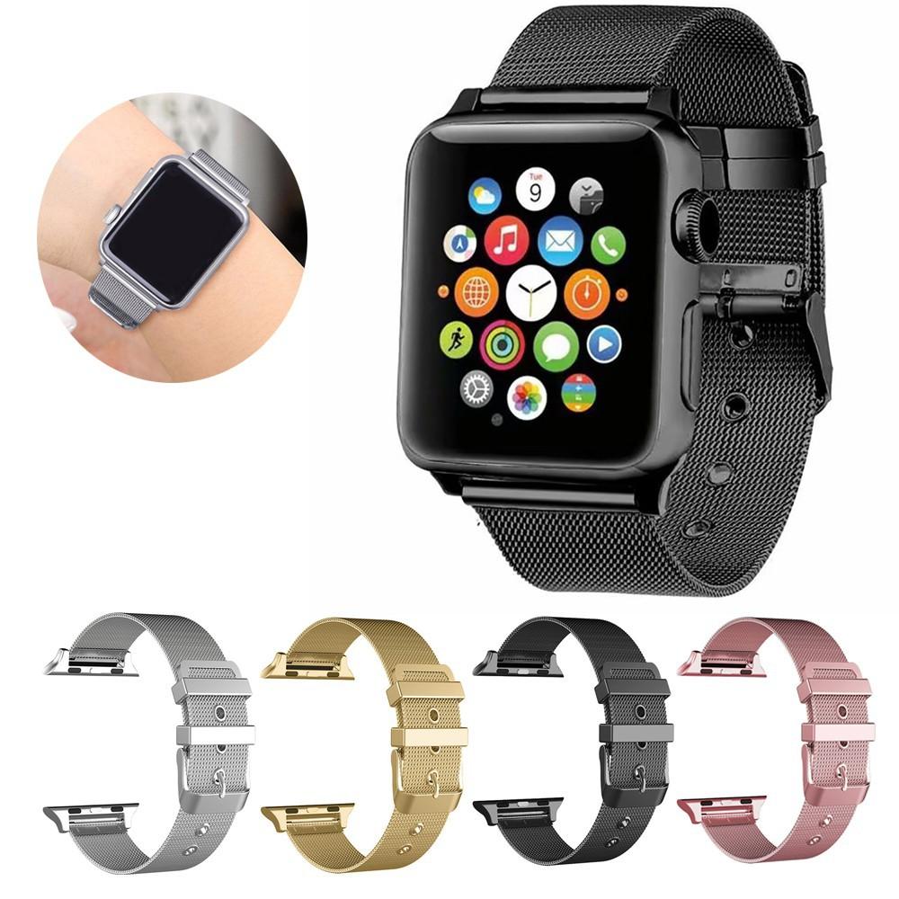 สาย applewatch สายนาฬิกา applewatch สาย Apple Watch สายนาฬิกาโลหะมิลาน เหมาะสำหรับ Apple Watch series SE.6.5.4.3.2.1