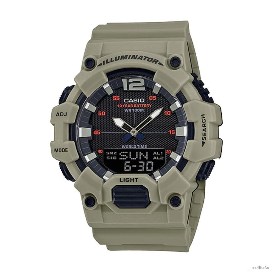 【สินค้าเฉพาะจุด】✹Casio Standard นาฬิกาข้อมือผู้ชาย สายเรซิน รุ่น  HDC-700,HDC-700-3A3 - สีน้ำตาล