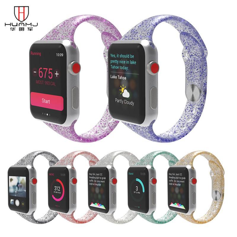 สายนาฬิกาข้อมือซิลิโคนสําหรับ Applewatch Iwatch123456Se Xiaoman