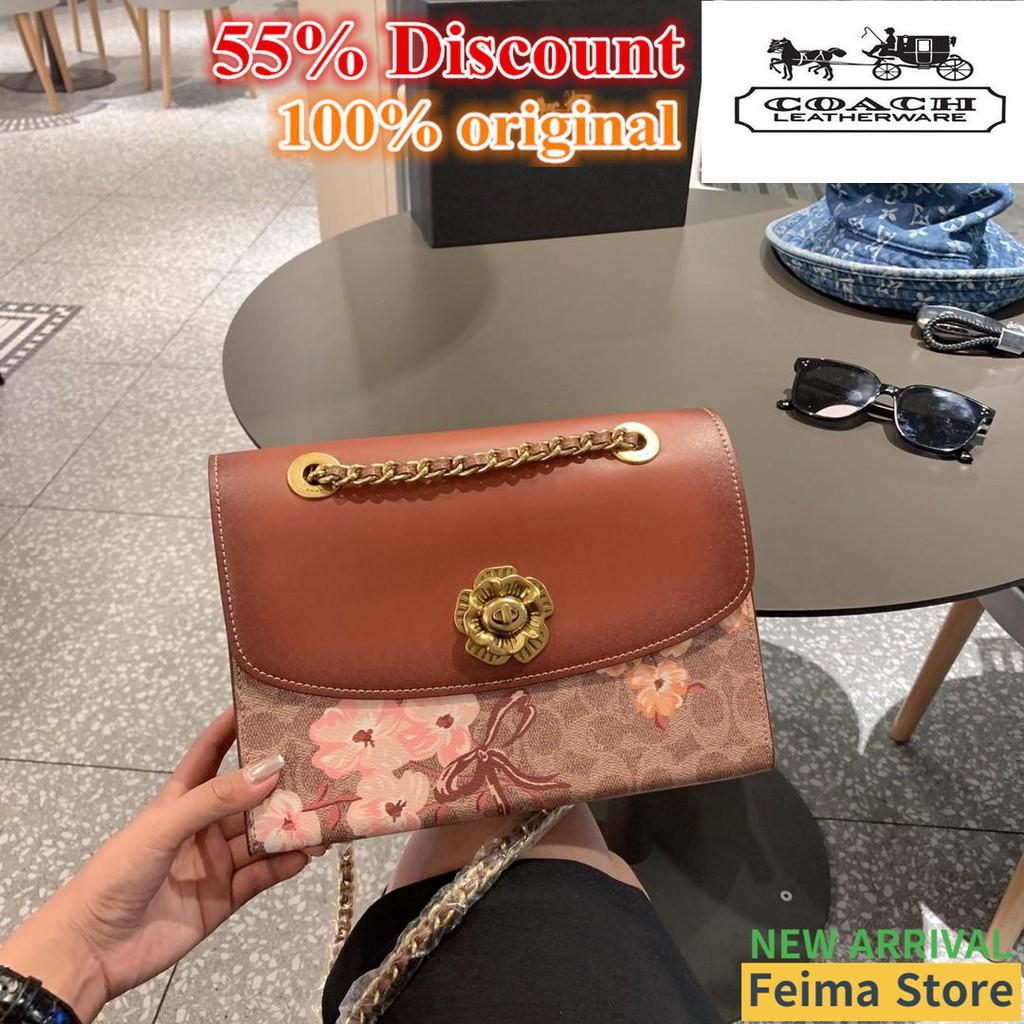 【Feima/จัดส่งฟรี】Coach Crossbody Bag กระเป๋าสะพายไหล่ Parker coach กระเป๋าสะพายข้าง coach กระเป๋าผู้หญิง