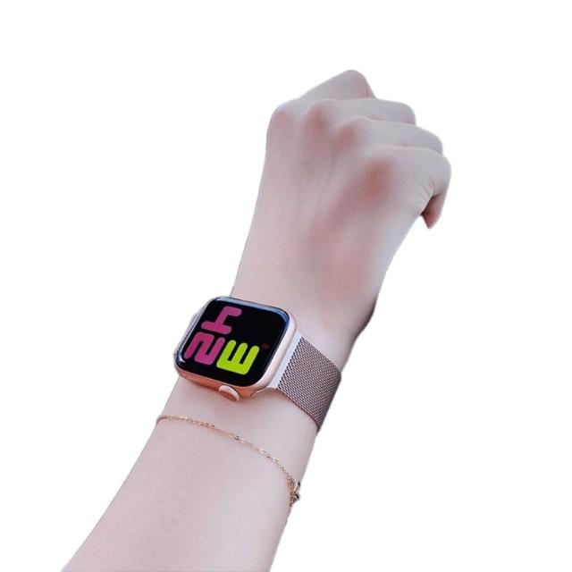 ✁สาย สำหรับ apple Watch Band Milanese Loop Series 1 2 3 4 5 6 44 มม 40 38 42 applewatch se 4.7😊1