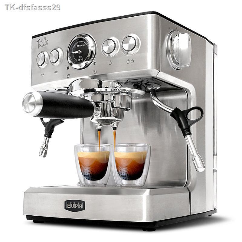 เครื่องชงกาแฟพกพา۩♚℗Eupa/Tsann Kuen TSK-1837B เครื่องทำกาแฟเอสเปรสโซกึ่งอัตโนมัติเครื่องทำกาแฟแบบไอน้ำ
