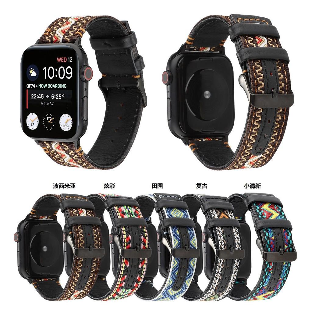 สายนาฬิกา applewatch สาย applewatch สาย applewatch แท้ iwatch6 สายรัดผู้ชายและผู้หญิงบุคลิกภาพความคิดสร้างสรรค์สายรัดหนั